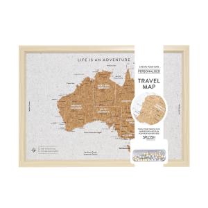 Travel Board Australia Map Small