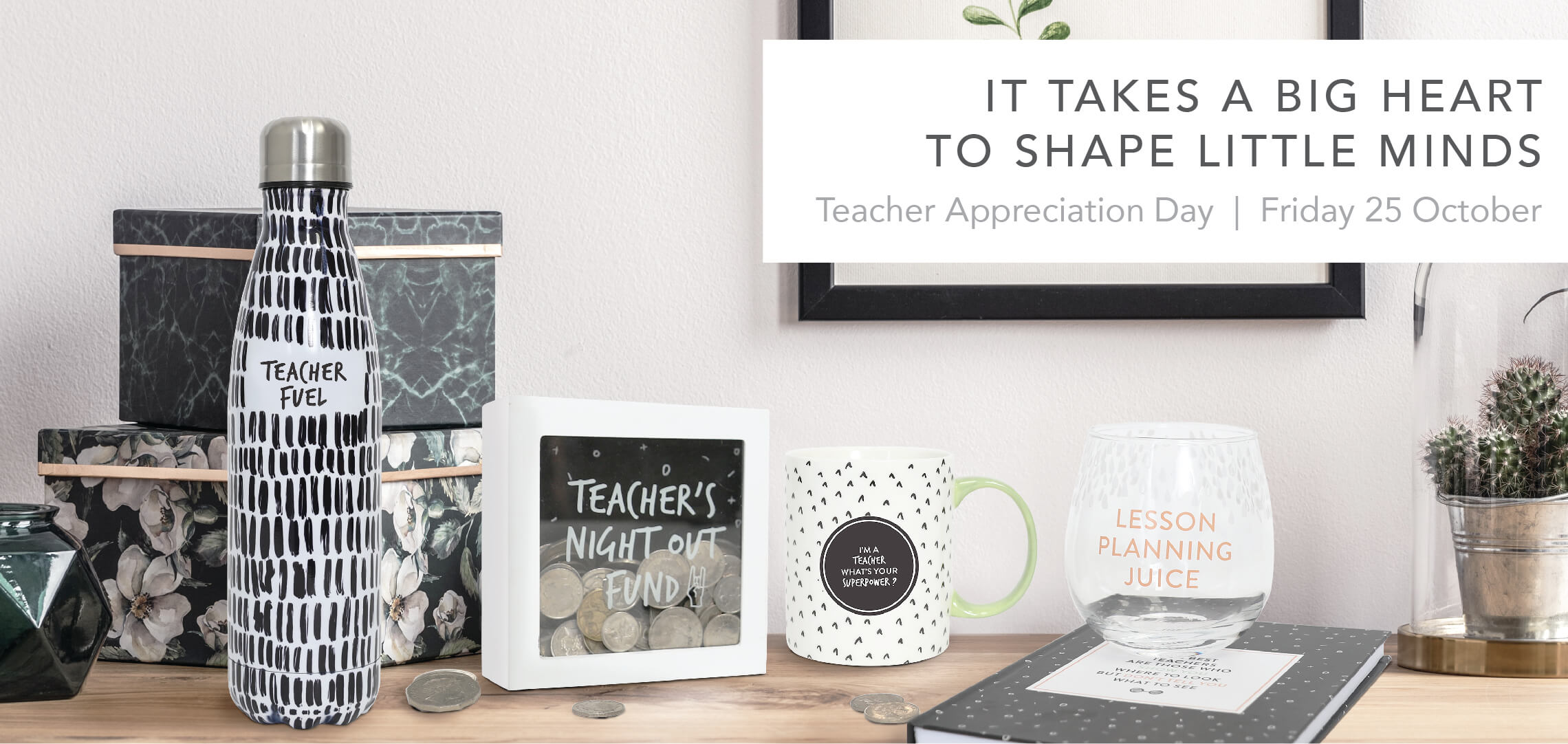The limited edition Teacher collection packs a punch with fun sayings on products perfect for teachers.