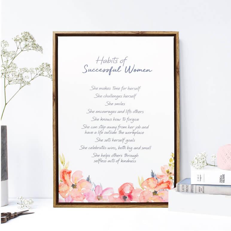 Pastel toned prints & uplifting verses