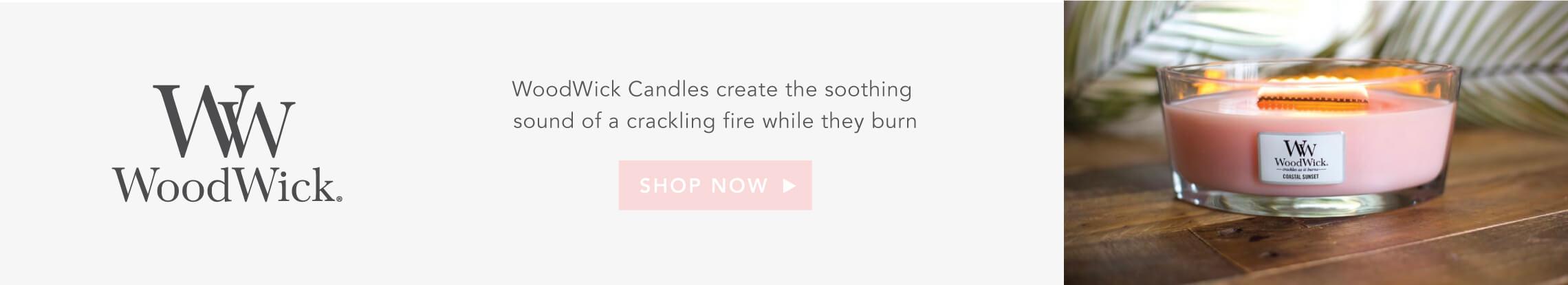 Unique wooden wick that crackles as it burns
