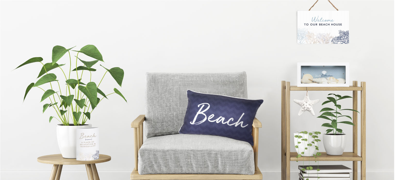 Coastal inspired homewares and decor