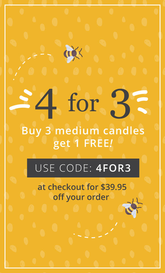 Buy 4 candles for the price of 3!