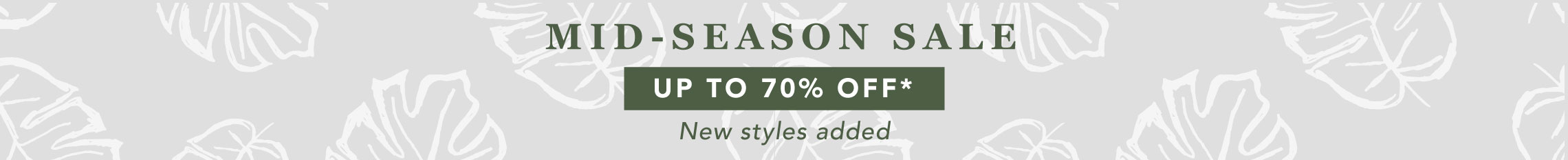 Up to 70% off, new styles added