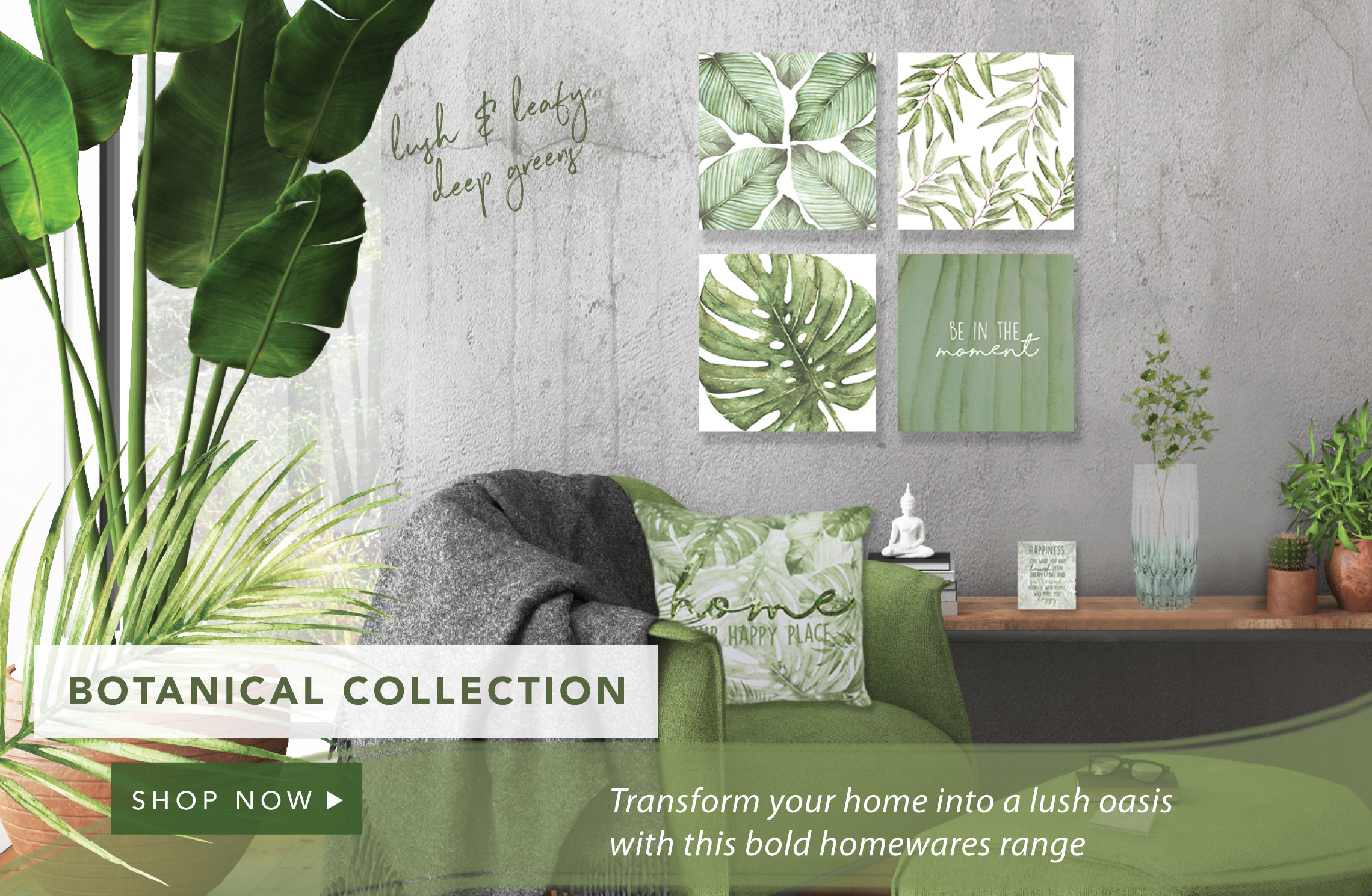 Transform your home into a lush, tropical oasis with this bold homewares range
