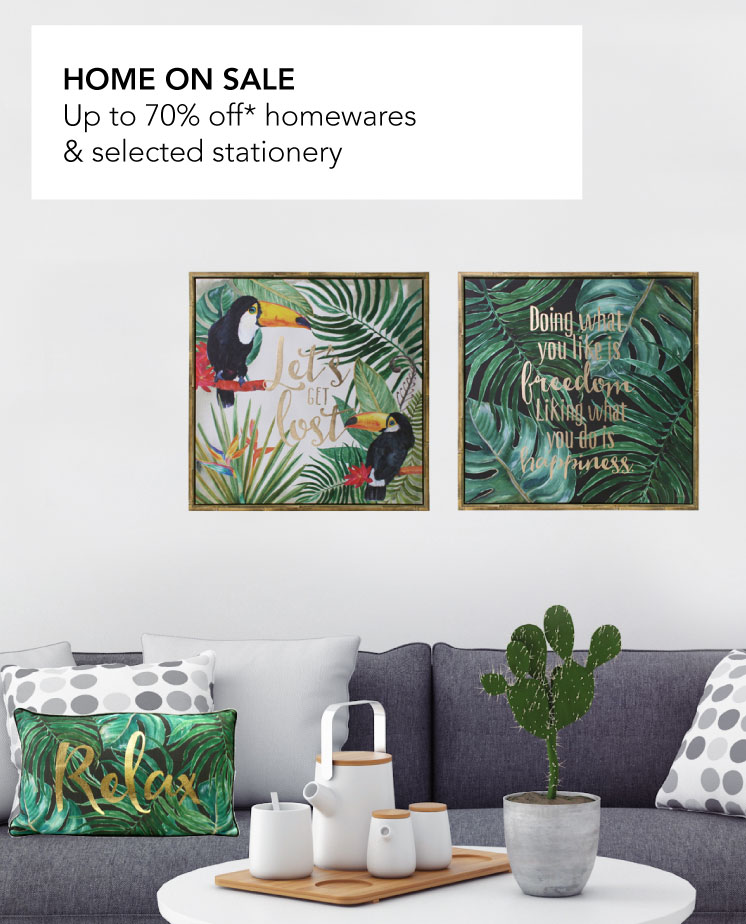 Up to 70% off homewares and selected stationery