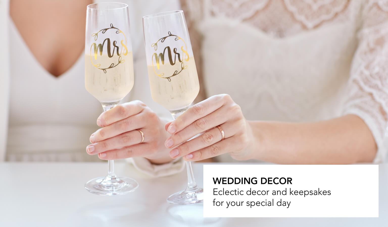 Eclectic decor and keepsakes for your special day
