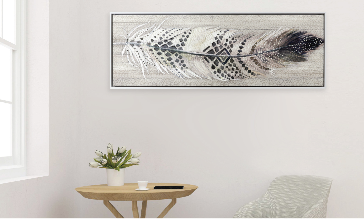 Framed canvases to switch up your home