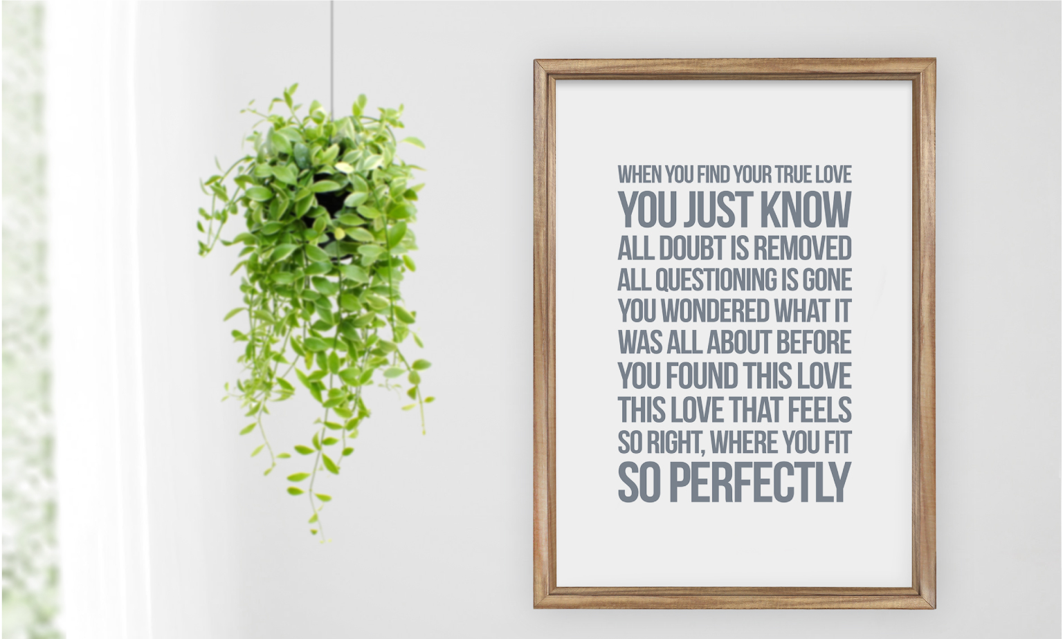 Framed canvases to switch up your room