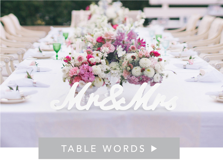 Shop Table Words