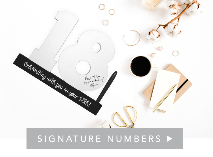 Shop Signature Frames & Numbers